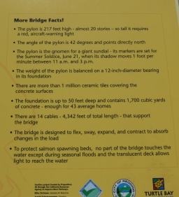 Sundial Bridge Facts