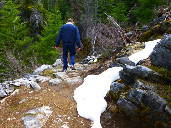 There were still some left over snow along the trail