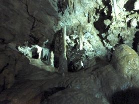 Millers Chapel, Stalactites and stalagmites in Miller's Chapel