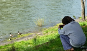 Picture taking at the river
