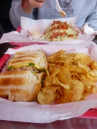 Fish Tacos and Crab and Shrimp Sandwich