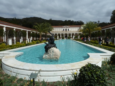 Outer Peristyle,the largest garden at the Getty Villa