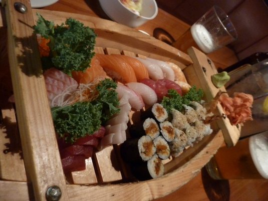 Heavenly sushi boat