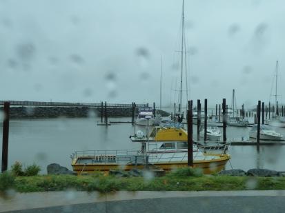 The pier in rain