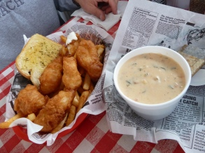 The lunch at Bandon's Fish Market.