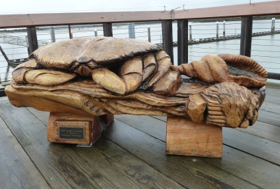 The biggest wooden crab i have ever seen
