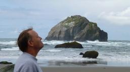Steve emulating the Face Rock