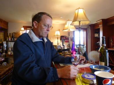 Tasting Oregon wines at Blue Heron