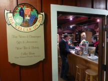 A stop at a wine cellar