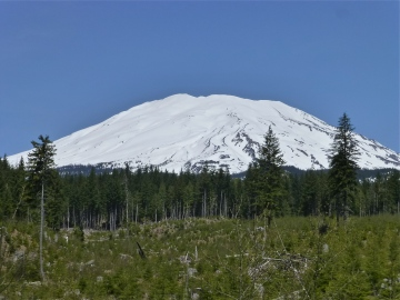 South side view of Mt St Helen