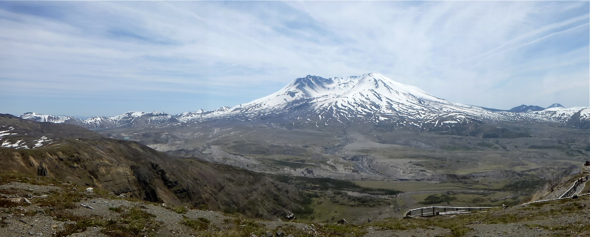 Panoramic view of Mt St Helens