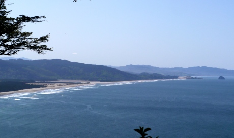 On a clear day the view of Cape Kiwanda from Cape Lookout