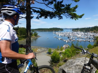 We had lunch overlooking Roche Harbor
