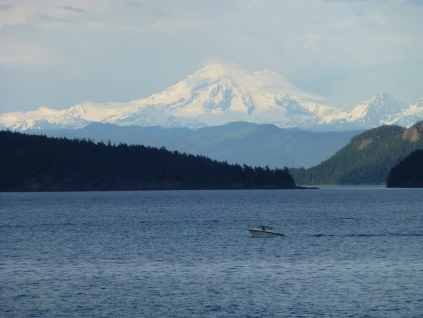 Mt. Baker from the ferry out of Anacortes