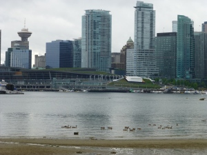 View of Vancouver skyline from Stanley Park