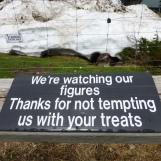 Mild caution about feeding animals