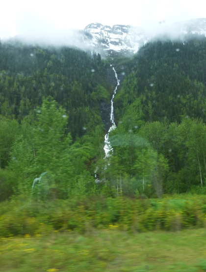 One of the many waterfalls along the highway