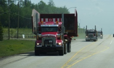 We encountered lots of truckers on the road