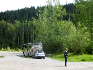 Our spot at Sikanni Chief RV Park