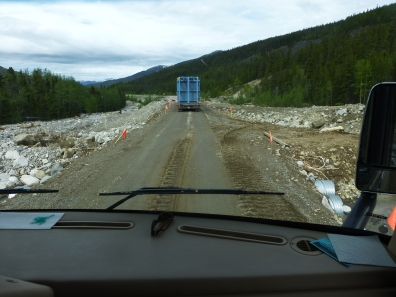 This is where the road was washed out, and the Alaska Highway in this area was closed for 3 days. This is why we extended our stay at Dawson Creek