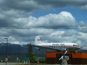 A DC 3 weather vane, landmark at the Transportation Museum