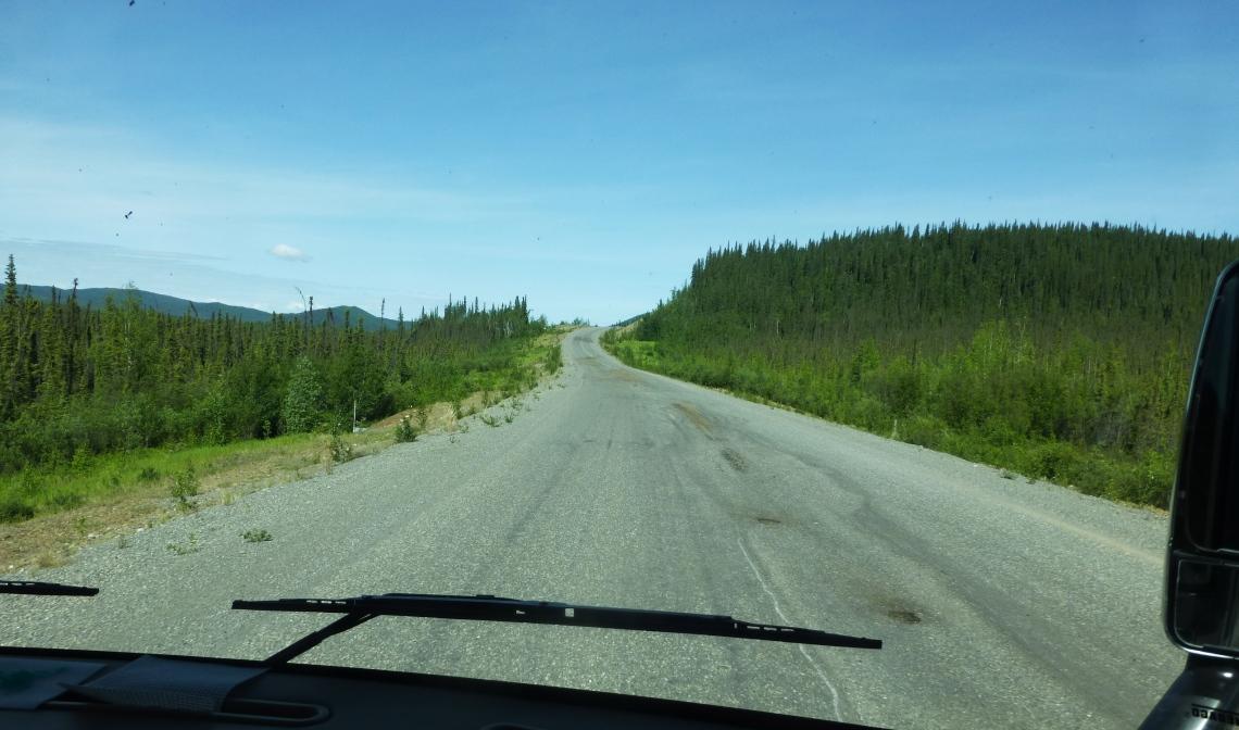Potholes in Alaska Highway