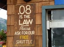 Alcohol limit sign