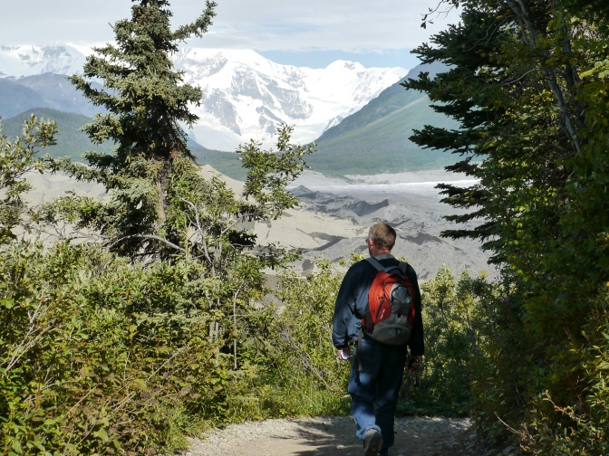 Hiking to Root Glacier, Alaska