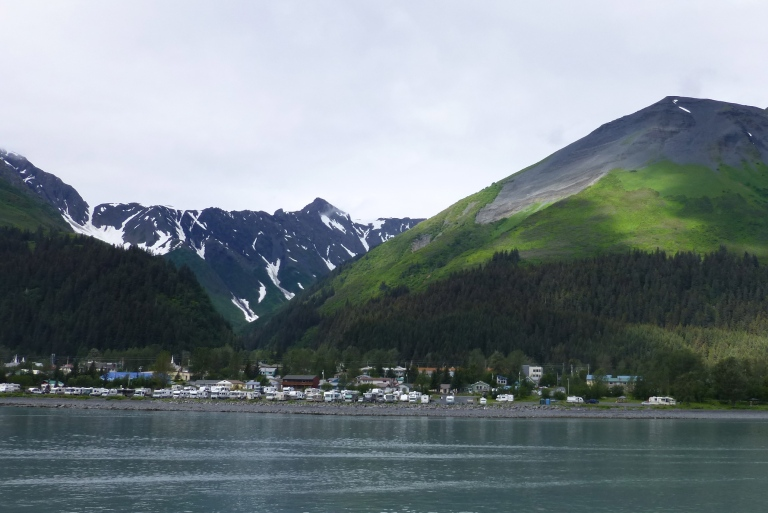 Seward, nestled in by Mt Marathon