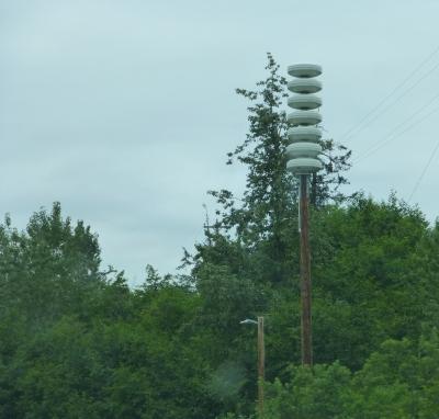 Tsunami warning loudspeaker