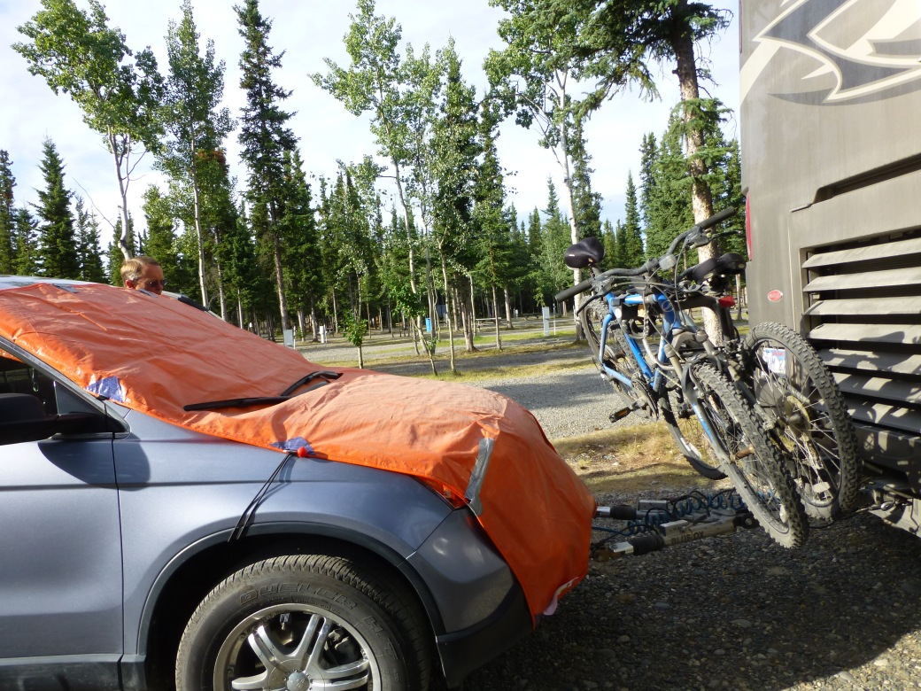 Protection from frost heaves, Alaska highway