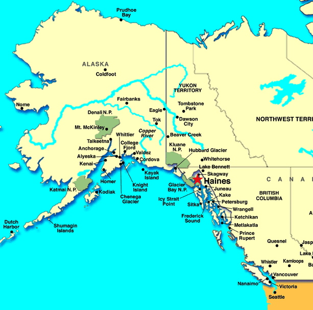 Location of Haines, AK