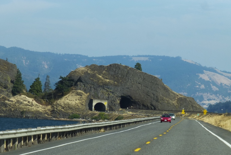 Tunnel on Highway 14, Columbia River Gorge