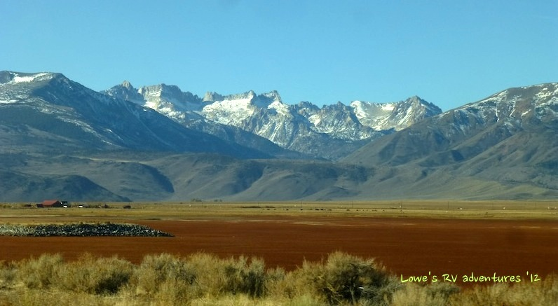 Bridgeport Reservoir with Sawtooth Ranges in the background