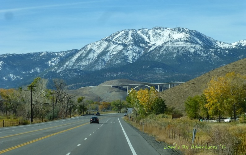 Highway 395 outside of Reno