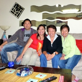 with family