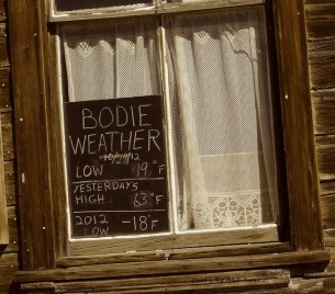 Bodie Weather 10/29/12