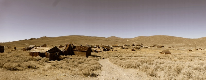 Panorama of the Bodie the Ghost Town