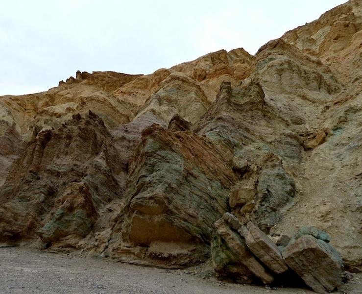 Colorful canyon walls at Golden Canyon