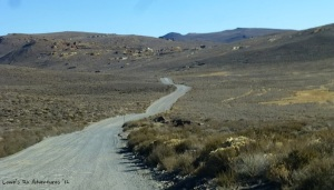 The road to Bodie