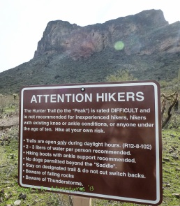 Notice to hikers