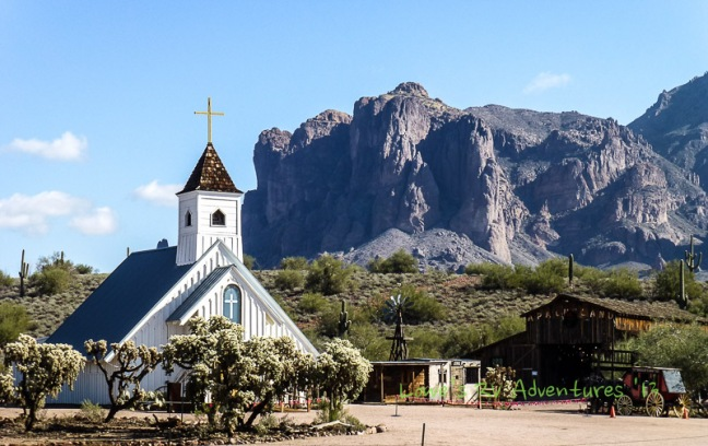 Elvis Chapel at the foot of Superstition