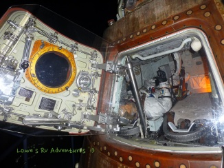 Actual Apollo17 Command Module. Oh, there's an astronaut still in there!