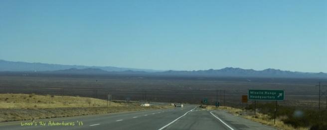 White Sands Missile Range area