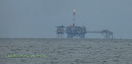 One of the many oil rigs dotting the gulf