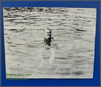 FDR swimming at the pool
