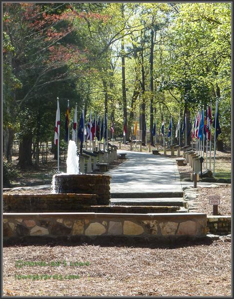 State Stones along walk