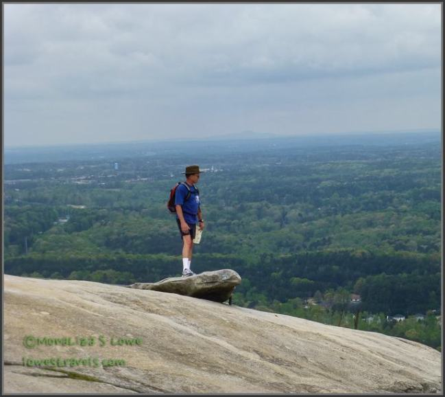 Pose at the top of Stone Mountain