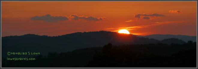 Sunset at Blue Ridge Mountains