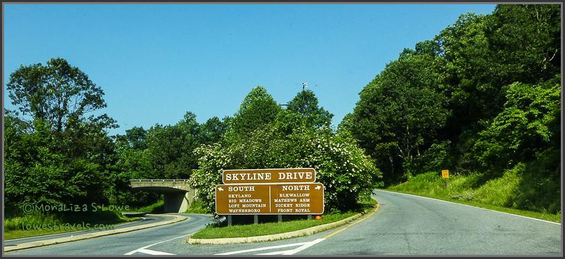 Entrance to Shenandoah National Park